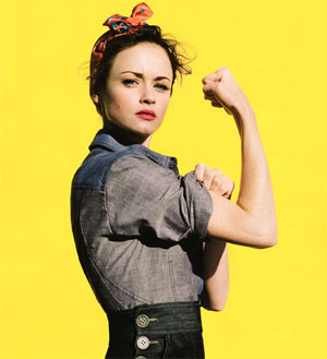 Alexis Bledel as Rosie the Riveter from Glamour Magazine, March 2009